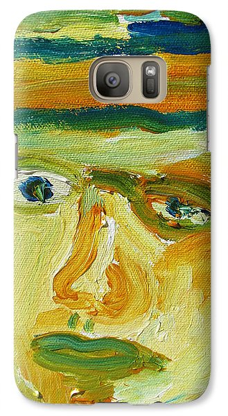Galaxy Case featuring the painting Face Eight by Shea Holliman