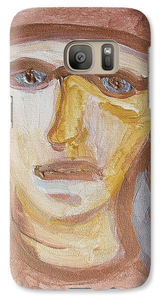 Galaxy Case featuring the painting Face Five by Shea Holliman