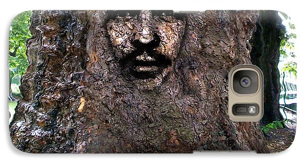 Galaxy Case featuring the digital art Face In A Tree by Mary M Collins