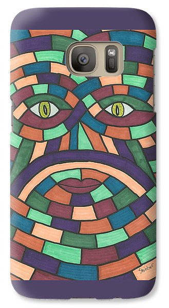 Galaxy Case featuring the painting Face In The Maze by Susie Weber