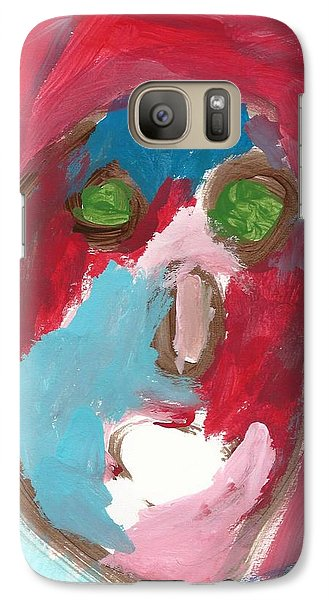 Galaxy Case featuring the painting Face by Artists With Autism Inc
