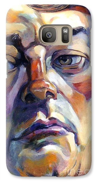 Galaxy Case featuring the painting Face Of A Man by Stan Esson