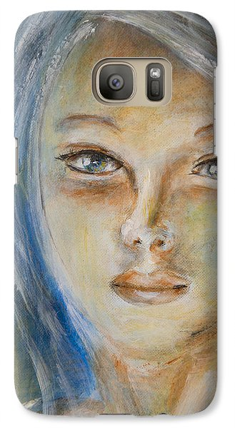 Galaxy Case featuring the painting Face Of An Angel by Nik Helbig