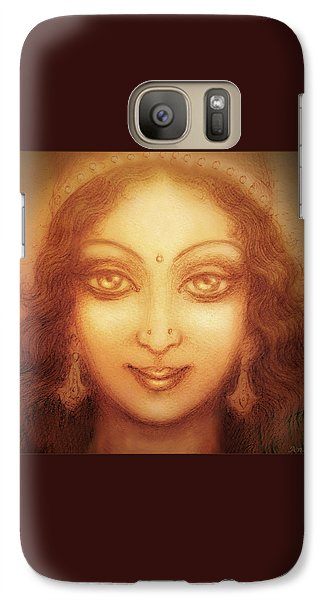 Galaxy Case featuring the mixed media Face Of The Goddess/ Durga Face by Ananda Vdovic