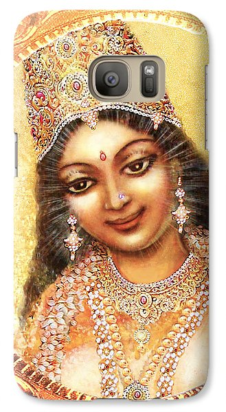 Galaxy Case featuring the mixed media Face Of The Goddess - Lalitha Devi  by Ananda Vdovic