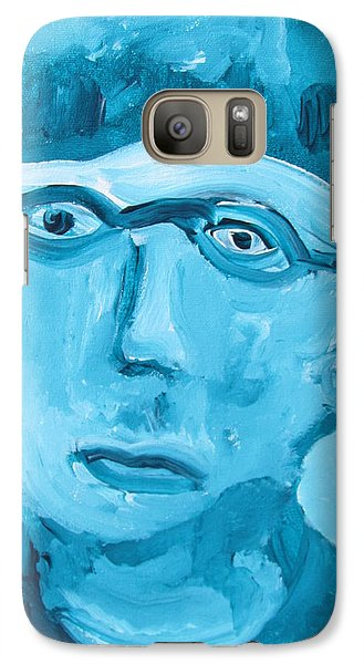 Galaxy Case featuring the painting Face One by Shea Holliman