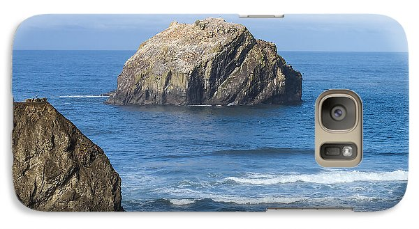 Galaxy Case featuring the tapestry - textile Face Rock Landscape by Dennis Bucklin