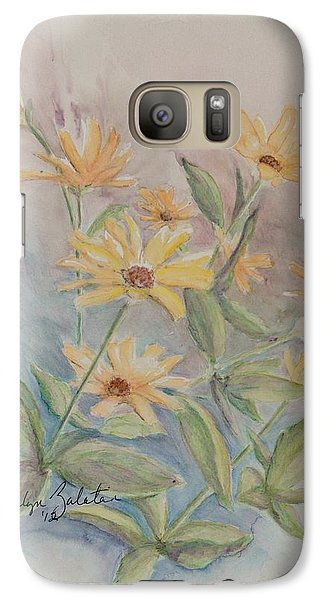 Galaxy Case featuring the drawing Face The Day by Marilyn Zalatan