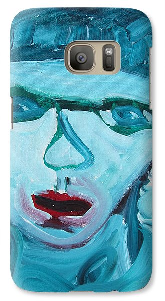 Galaxy Case featuring the painting Face Two by Shea Holliman