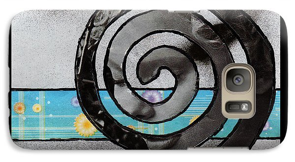 Galaxy Case featuring the mixed media Face Within A Face Spiral by Christine Perry