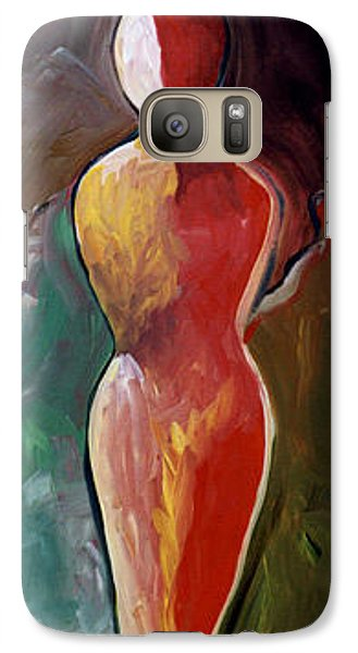 Galaxy Case featuring the painting Faceless Figure by Lance Headlee