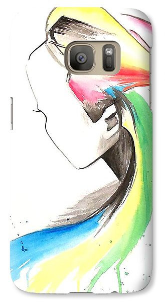 Galaxy Case featuring the painting Faceless by Oddball Art Co by Lizzy Love