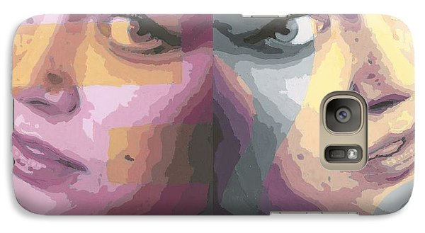 Galaxy Case featuring the painting Faces by Rachel Hames