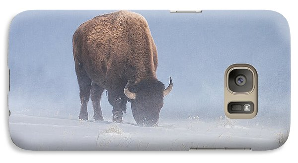 Galaxy Case featuring the photograph Faces The Blizzard by Jack Bell