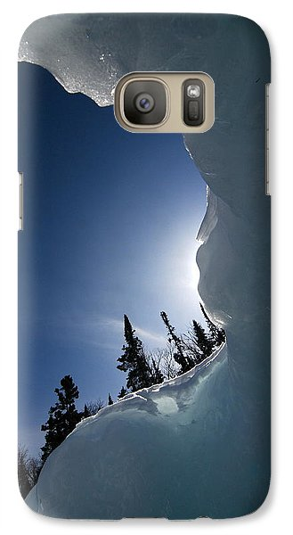 Galaxy Case featuring the photograph Facing The Wind by Sandra Updyke