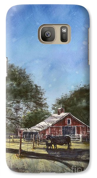 Galaxy Case featuring the painting Faded Barn by Tim Oliver
