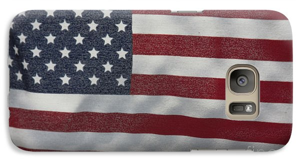 Galaxy Case featuring the photograph Faded Old Glory by Jerry Bunger