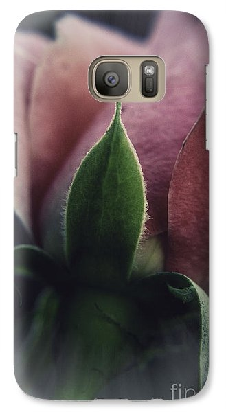 Galaxy Case featuring the photograph Faded Rose by Lori Mellen-Pagliaro