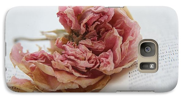Galaxy Case featuring the photograph Faded Rose by Lynn England