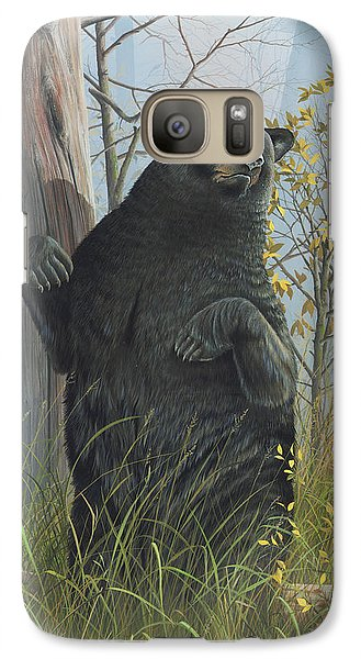 Galaxy Case featuring the painting Fair Warning by Mike Brown