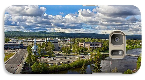 Galaxy Case featuring the photograph Fairbanks Alaska The Golden Heart City 2014 by Michael Rogers