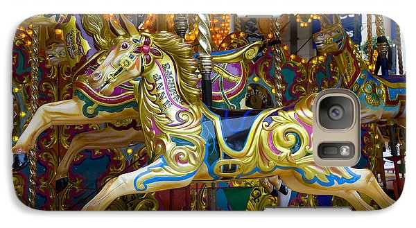 Galaxy Case featuring the photograph Fairground Carousel by Lee Avison