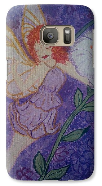Galaxy Case featuring the painting Fairy Harmony  by Judi Goodwin