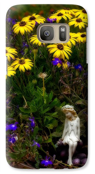 Galaxy Case featuring the photograph Fairy In Garden Pot by Dave Garner