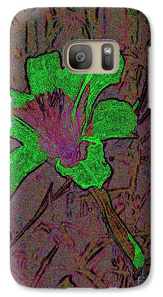 Galaxy Case featuring the photograph Fairy Lily Abstract Digital Art by Merton Allen