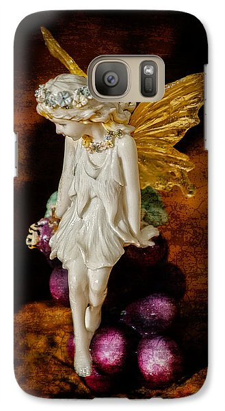 Galaxy Case featuring the photograph Fairy Of The Harvest Moon by Dave Garner