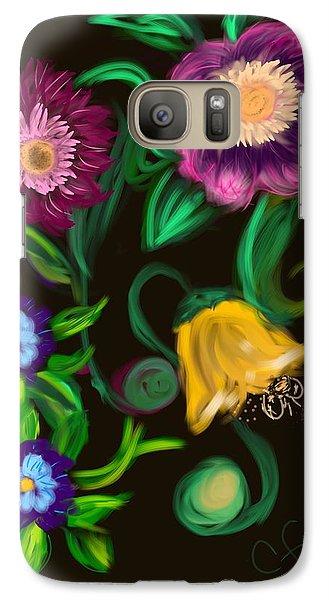 Galaxy Case featuring the digital art Fairy Tale Flowers by Christine Fournier