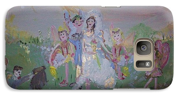 Galaxy Case featuring the painting Fairy Wedding by Judith Desrosiers