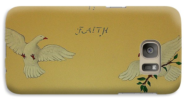 Galaxy Case featuring the painting Faith by Dan Wagner