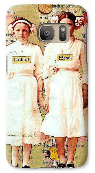 Galaxy Case featuring the mixed media Faithful Friends by Desiree Paquette