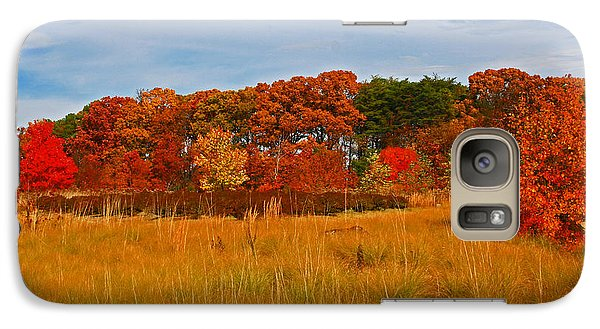 Galaxy Case featuring the photograph Fall Along The Highway by Andy Lawless
