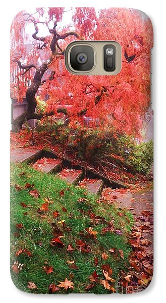Galaxy Case featuring the photograph Fall And Fog by Suzanne McKay