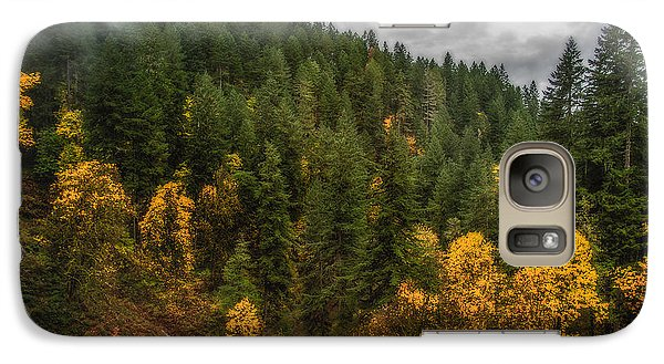 Galaxy Case featuring the photograph Fall At Silver Falls by Dennis Bucklin