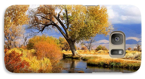 Galaxy Case featuring the photograph Fall At The River by Marilyn Diaz