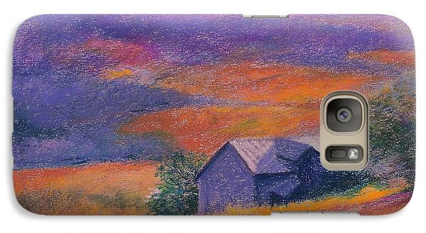 Galaxy Case featuring the painting Fall Barn Pastel Landscape by Judith Cheng