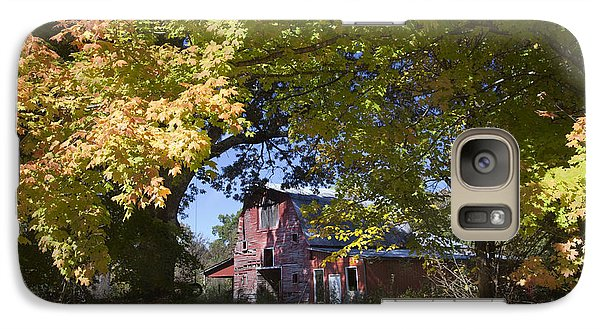 Galaxy Case featuring the photograph Fall Barn by Robert Camp