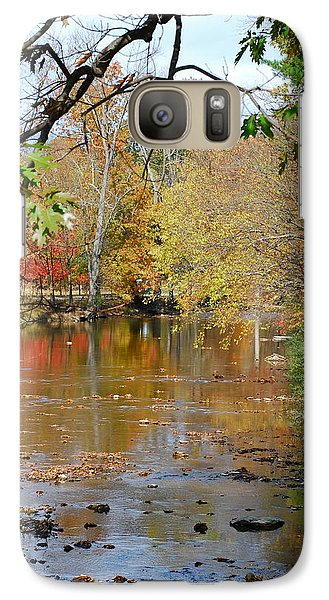 Galaxy Case featuring the photograph Fall  Begins by Kathy Gibbons