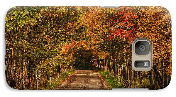 Galaxy Case featuring the photograph Fall Color Along A Dirt Backroad by Jeff Folger