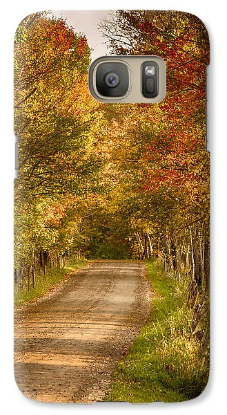 Galaxy Case featuring the photograph Fall Color Along A Peacham Vermont Backroad by Jeff Folger
