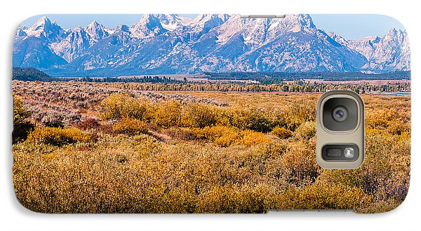 Galaxy Case featuring the photograph Fall Colors In The Tetons   by Lars Lentz