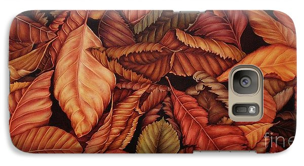 Galaxy Case featuring the painting Fall Colors by Paula L