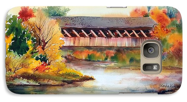Galaxy Case featuring the painting Fall Colors by Yolanda Koh