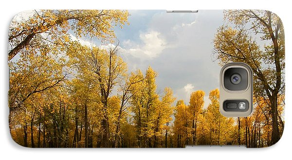 Galaxy Case featuring the photograph Fall Cottonwoods In Gros Ventre by Jeremy Farnsworth