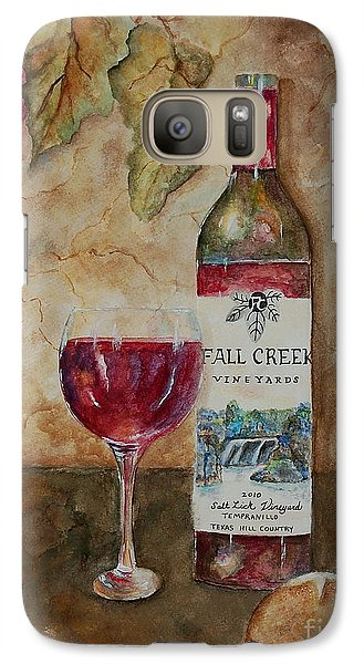 Galaxy Case featuring the painting Fall Creek Vineyards by Tamyra Crossley