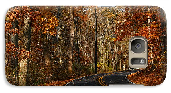 Galaxy Case featuring the photograph Fall Curves by Andy Lawless