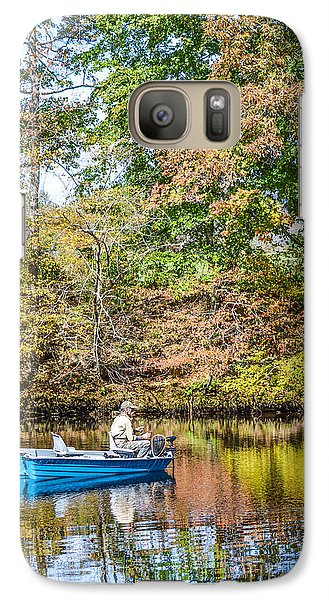 Galaxy Case featuring the photograph Fishing Reflection by Debbie Green